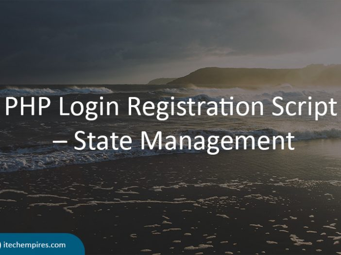 PHP Login Registration Script State Management