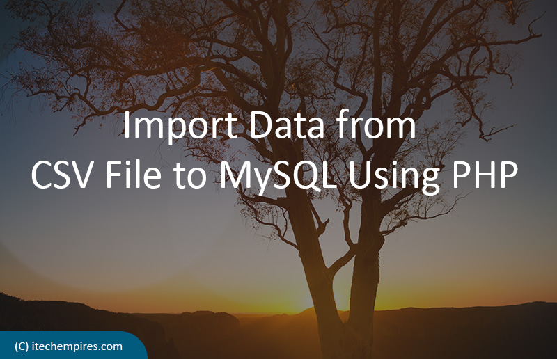 How to Import Data from CSV File to MySQL Using PHP