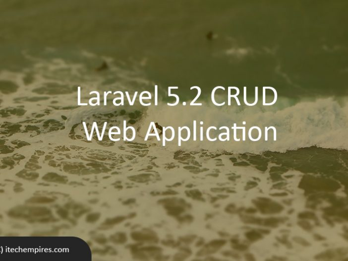 Laravel 5.2 CRUD Web Application
