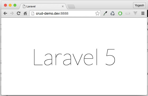 Laravel-Welcome-Screen