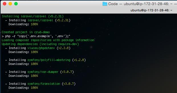 Laravel Installing process