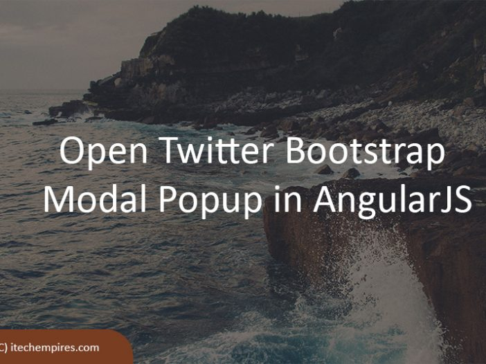 Open Twitter Bootstrap Modal Popup in AngularJS