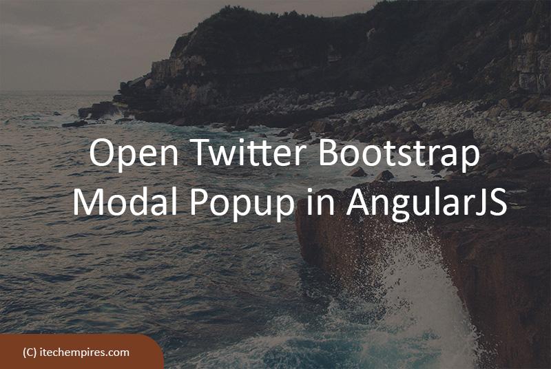 Open Twitter Bootstrap Modal Popup in AngularJS