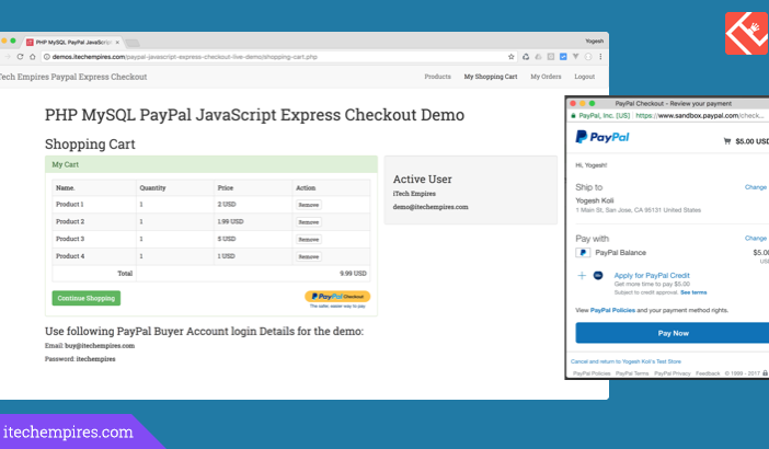 PayPal JavaScript Express Checkout in PHP and MySql
