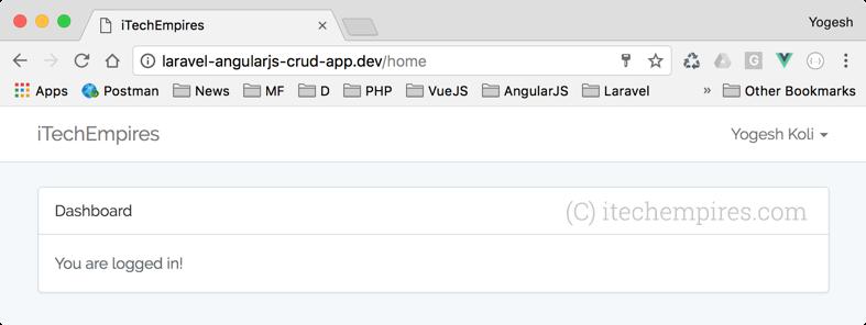 User Home Screen