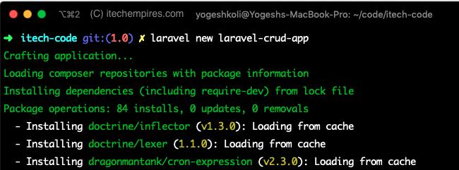Creating new laravel 6 application