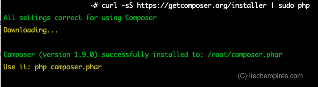Download composer installer