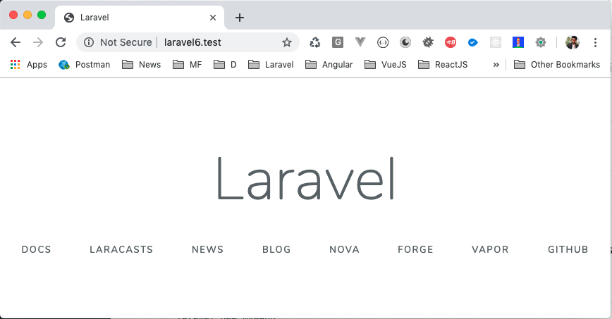 Laravel 6 Welcome screen