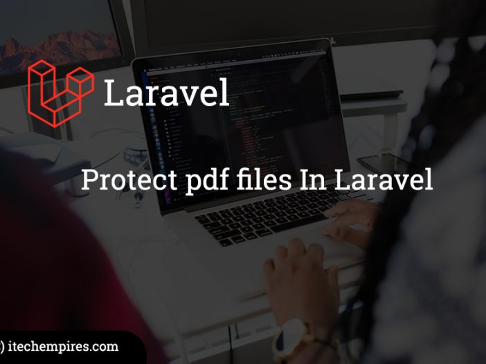 Protect pdf files In Laravel